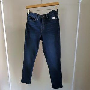 Gap super high rise True Skinny crop jeans